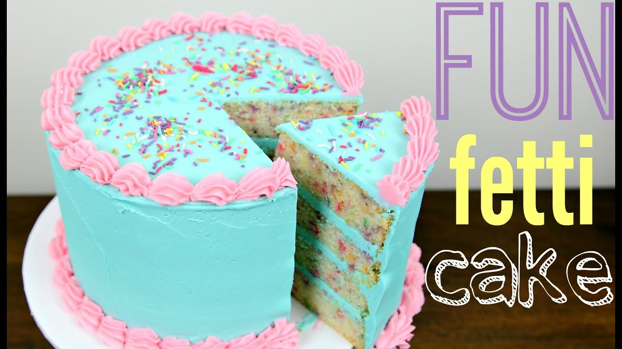Funfetti Birthday Cake Decorating - Style