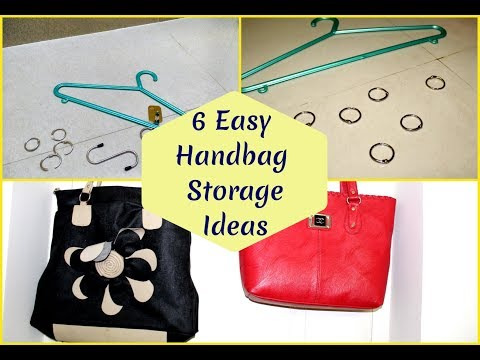 DIY HandBag Storage ideas for small space in Tamil |6 easy ways with Space saving ideas & low budget