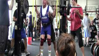 power lifting richard simon 80 year old back squat 255lbs