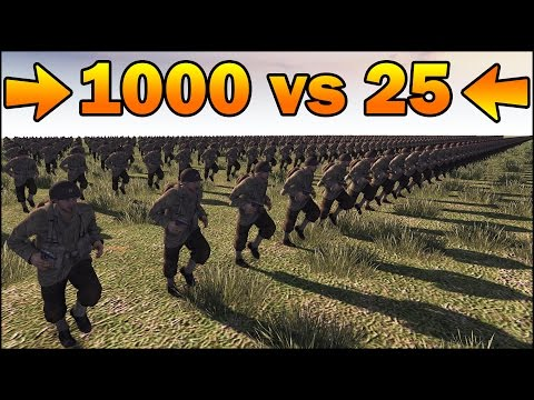 1000 INFANTRY vs 25 SNIPERS - MISSION IMPOSSIBLE - Men of War Assault Squad 2 - Editor Scenario #83