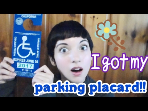 I got my handicap parking placard! (and the invisible illness struggle of getting it)