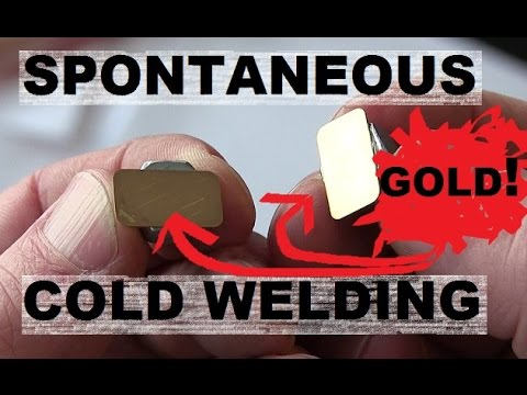 Cold Welding of Gold and Stainless Steel in Earth Atmosphere.