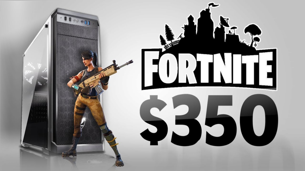 BEST $350 1080p Fortnite Gaming PC Build - YouTube