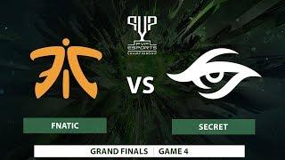 Fnatic vs Team Secret   Bo5   Grand Finals   PVP Esports Championship   Game 4