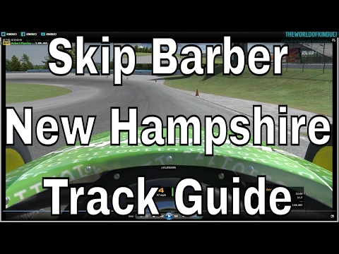 Track guide for New Hampshire Motor Speedway Road Course in the Skip Barber on iRacing