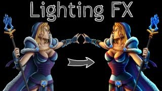 Add Lighting FX to your Photoshop Painting