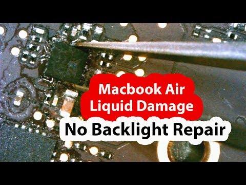 2015 Macbook Air 820-00164 liquid damaged backlight repair + My Trip to lebanon