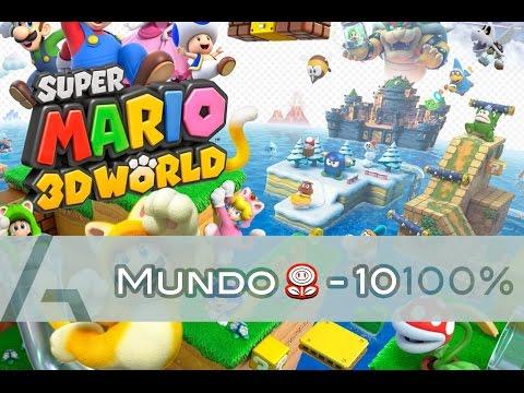 Super Mario 3D World   Mundo Flor-10 (100% Walkthrough)