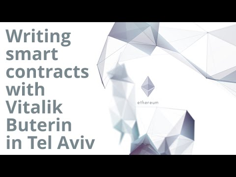 Smart contracts with Vitalik Buterin from Ethereum in Tel Aviv
