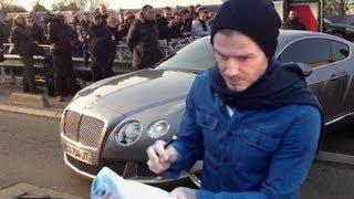 Sortie des voitures des joueurs du PSG lors du premier entrainement de David Beckham thumbnail