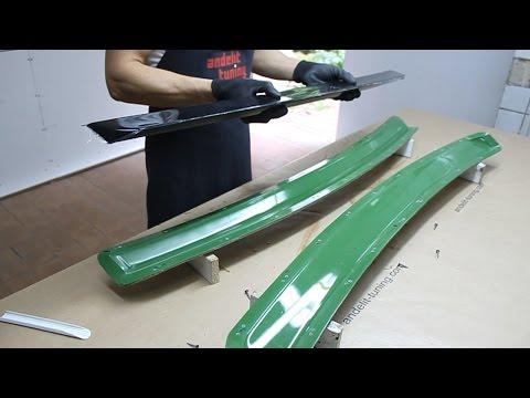Изготовление лип-спойлера на крышку багажника для Audi A8 D2