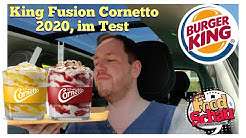 Burger King King Fusion Cornetto Zitrone Buttermilch & Himbeere Crunch