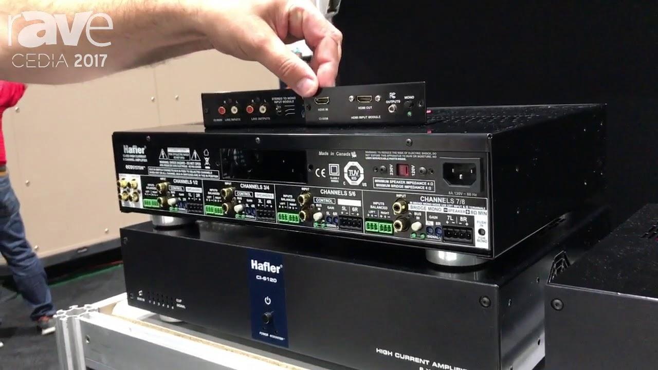 CEDIA 2017: Primacoustic Shows the Hafler CI-1255e Multi-Room Amplifier