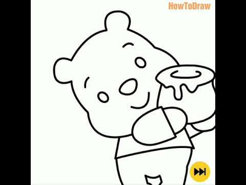 How To Draw Winnie The Pooh Menggambar Winnie The Pooh Youtube