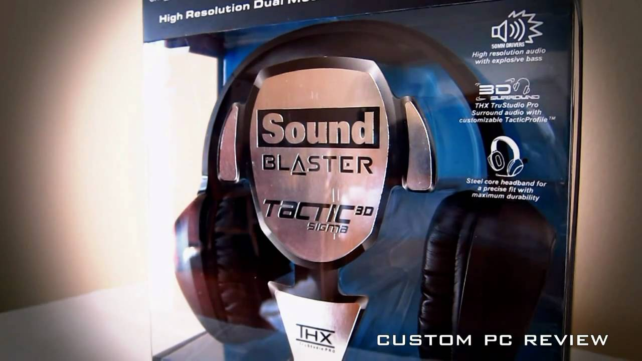 CREATIVE SOUND BLASTER TACTIC (3D) SIGMA AUDIO DRIVERS FOR WINDOWS 10