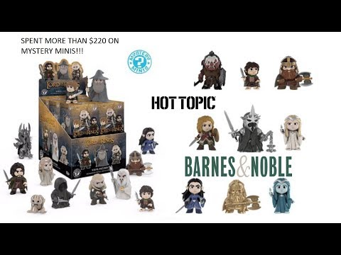 """Spent $220+ Funko Mystery Minis!! """"Lord of the Rings"""". Barnes & Noble, Hot Topic Exclusives!"""
