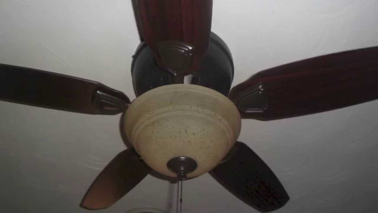 46 Quot Hunter Louden Low Profile Ceiling Fan Youtube