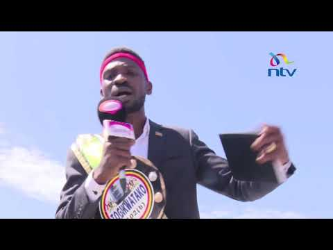 Bobi Wine arrested at  Entebbe International Airport