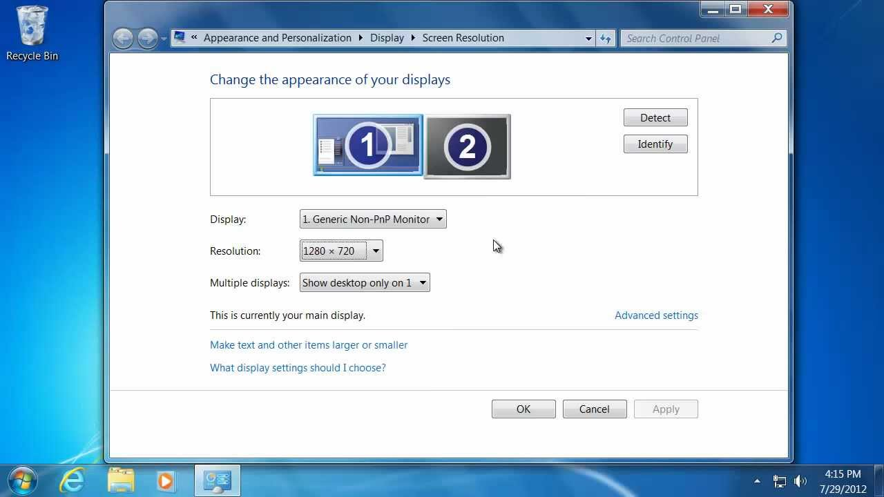 how to show up language bar windows 7