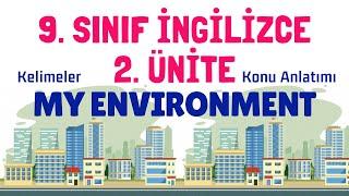 9. Sınıf İngilizce 2. Ünite Konu Anlatımı Kelimeler  My Environment