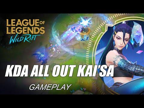KDA All Out Kai'Sa Gameplay - WILD RIFT