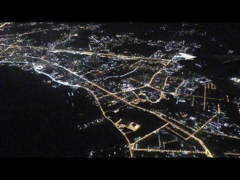 Ночной полёт S7 A320 Хабаровск-Владивосток.