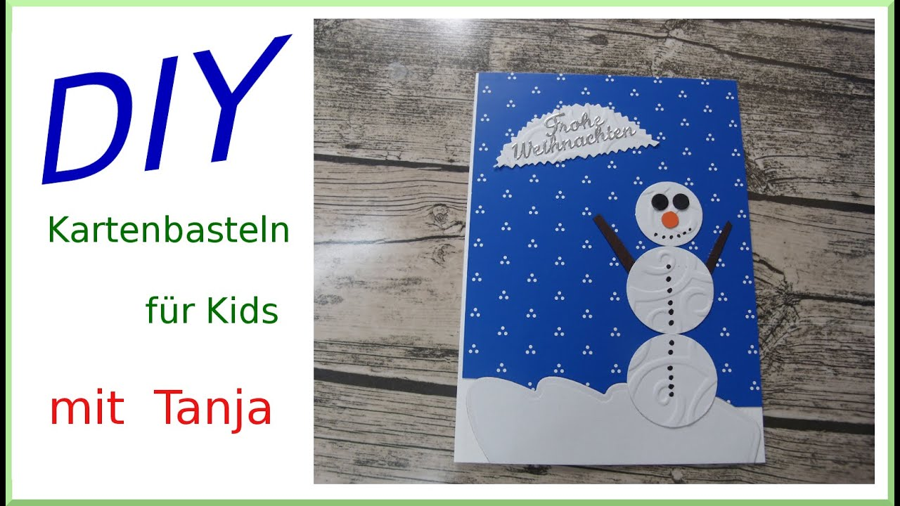 karten diy mit schneemann f r mit kindern basteln cardmaking deutsch youtube. Black Bedroom Furniture Sets. Home Design Ideas