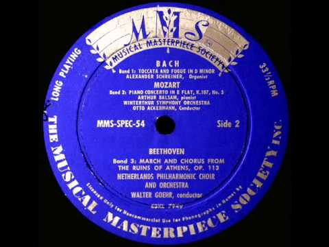 Mozart / Artur Balsam, 1951: Piano Concerto K. 107, No. 3 in E flat