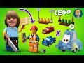 Gertit Plays With Lego Easy To Build - Cars 3 Lightning McQueen Guido And Luigi Trucks And Car