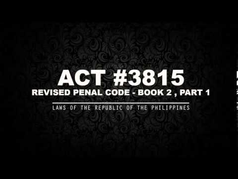REVISED PENAL CODE - BOOK 2 Pt. 1 [AUDIOBOOK]