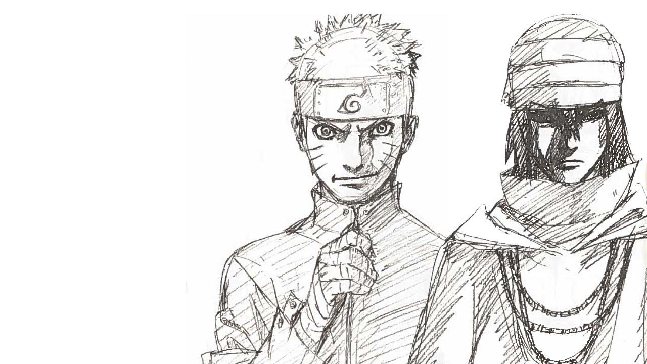 40bcf8e08160 Naruto The Last   Original Characters Sketch - YouTube