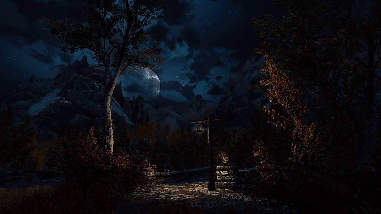 Moonlight Above The Aspens Skyrim Se Live Wallpaper 4k