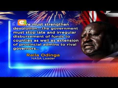 Odinga says NASA will resume street protests in January