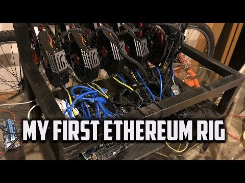 My Six Card RX 580 AMD Ethereum Mining Rig Build! Awesome Hash Rate!