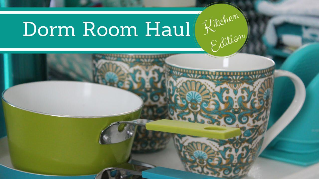 Dorm Room Organization Shopping Haul Kitchen Edition
