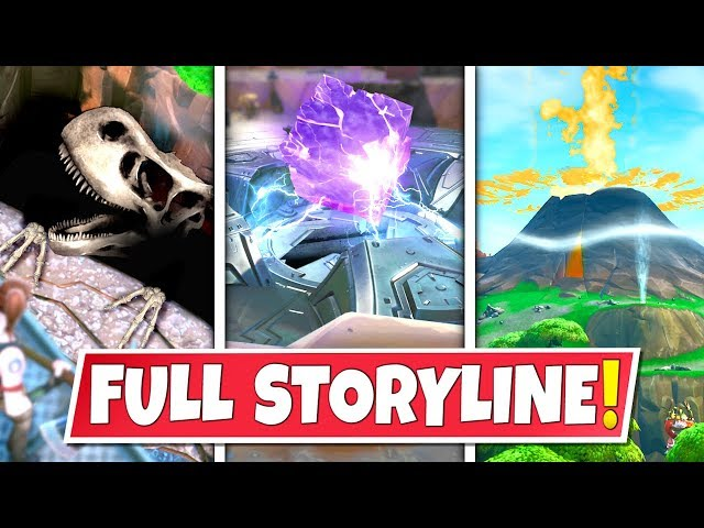 *NEW* FULL SEASON 8 *STORYLINE* IN FORTNITE SO FAR! CUBE GATEWAY, DIG SITES AND SMOKING VOLCANO!: BR