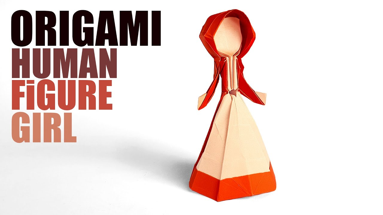 How to make a Paper 3D Human Girl Figure 【ORIGAMI】