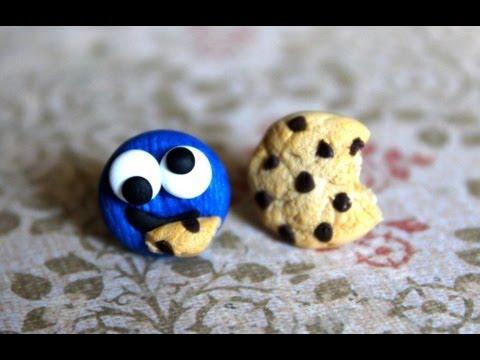 Diy Cookie Monster Polymer Clay Earrings Stop Motion