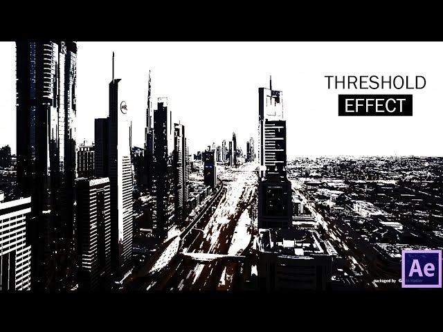 After Effects- CC threshold  2017