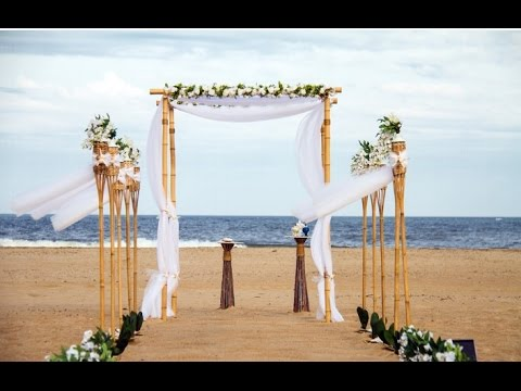 Bamboo Wedding Arbor - YouTube