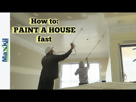 How to Paint a House Fast with an Airless Spray Gun
