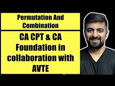 Permutation And Combination Full Chapter For CA CPT and Foundation