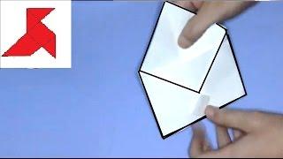 Как сделать простой конверт из бумаги формата A4(Инструкция, как быстро и легко сделать своими руками конверт из листа бумаги формата А4. Конверт весьма..., 2015-09-08T15:07:48.000Z)