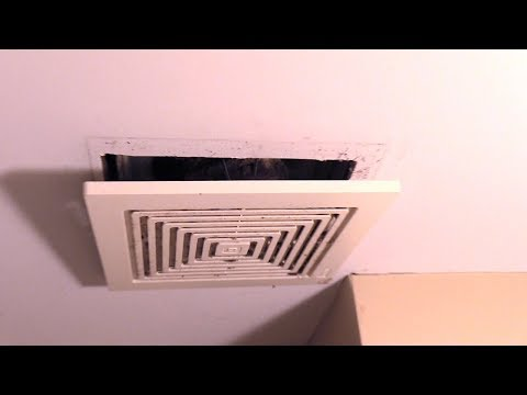 Bathroom Exhaust Fan, How to remove cover to clean. Quick&Easy!