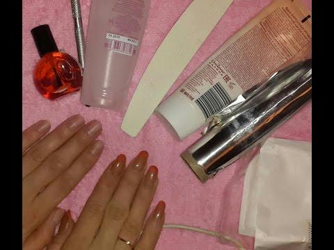 Как снять гелевые ногти в домашних условиях?