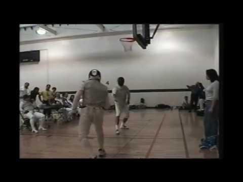 Greg Arthur fencing Dean Halstedt.avi.wmv