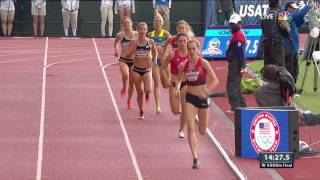 Olympic Track And Field Trials | Huddle Takes It Home In The Women's 5,000-Meter