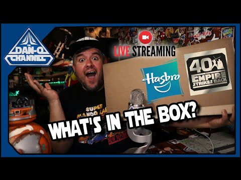REPLAY- Empire Strikes Back 40th Anniversary Box From Hasbro -Black Series LIVESTREAM UNBOXING