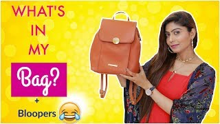 What's In My BAG? 2019 | Bag Secrets Revealed + Bloopers 😂 | Rinkal Soni