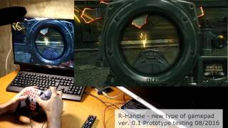 R-Handle gamepad. Test #4 Wolfenstein The New Order